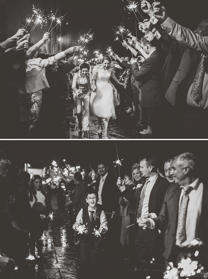 Eastclose Hotel wedding sparklers