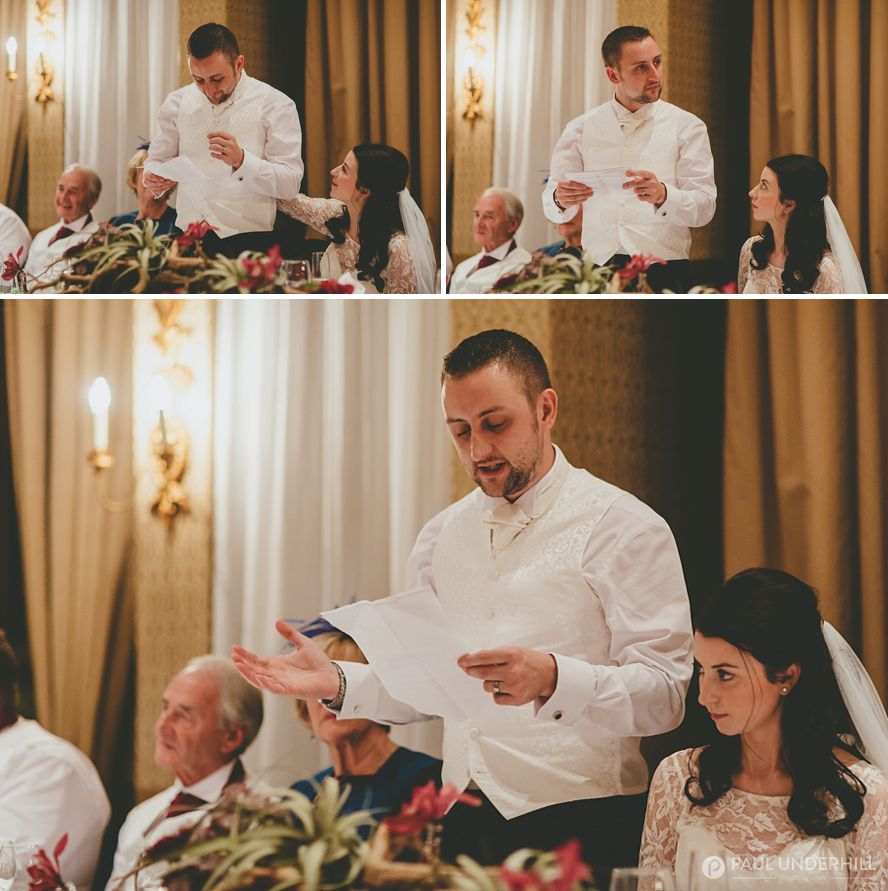 Grooms speech at Careys Manor Hotel
