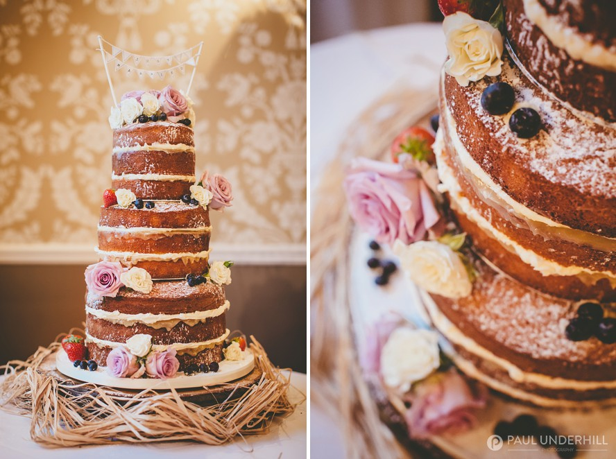 Naked 3 tier wedding cake