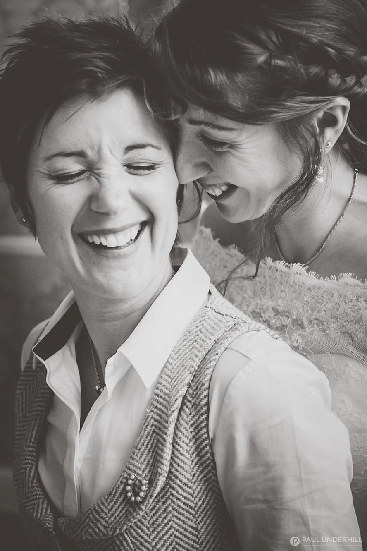 Same-sex couple wedding portrait