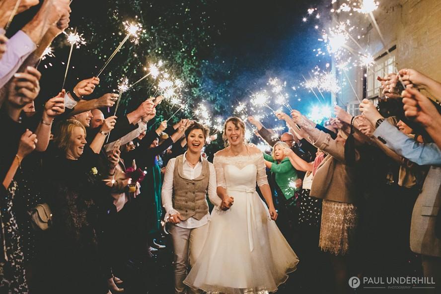 Wedding sparklers EastClose Hotel