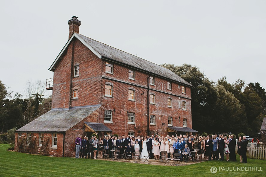Group portrait outside Sopley Mill