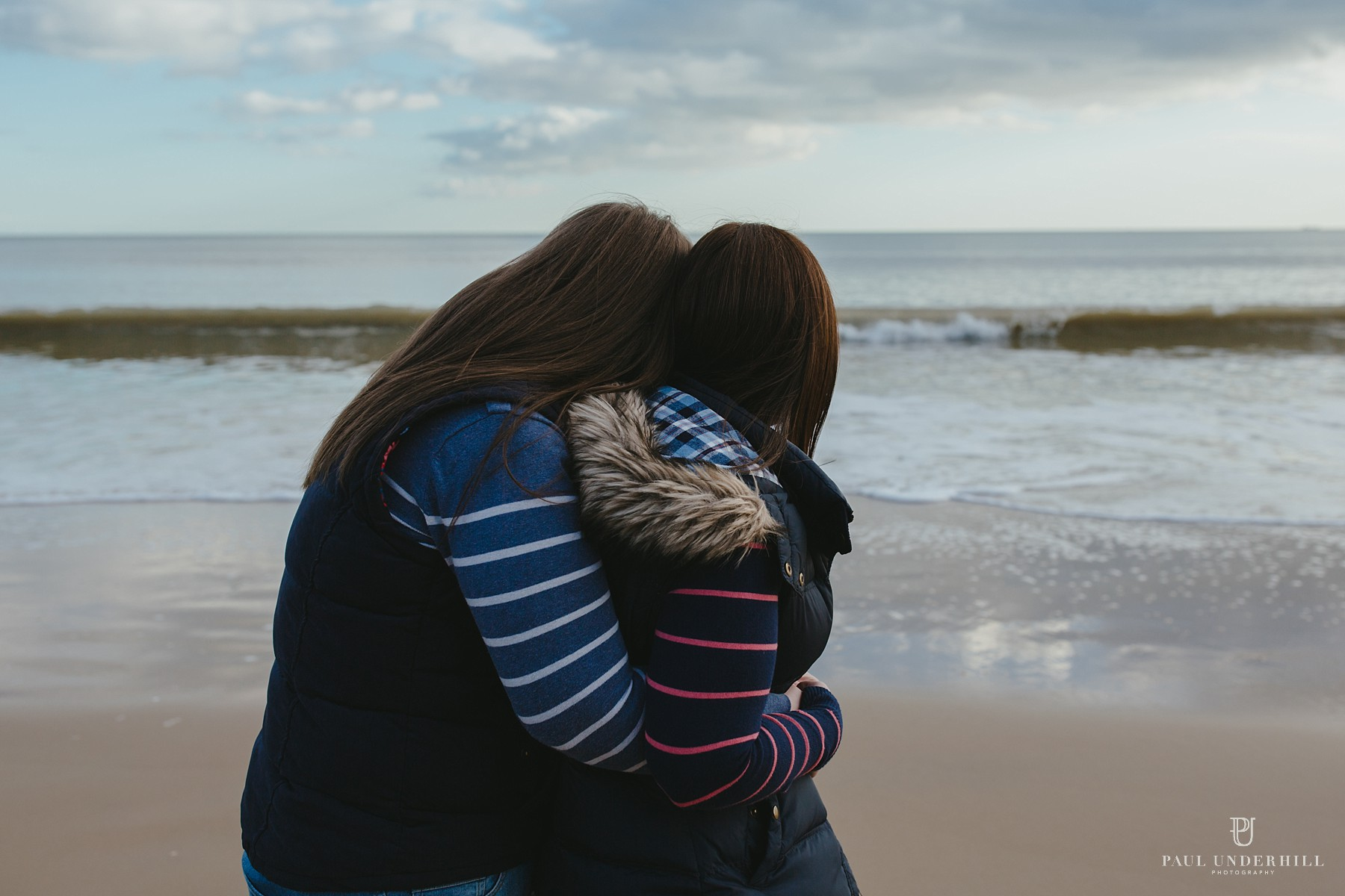 Romantic portrait photography on Bournemouth beach