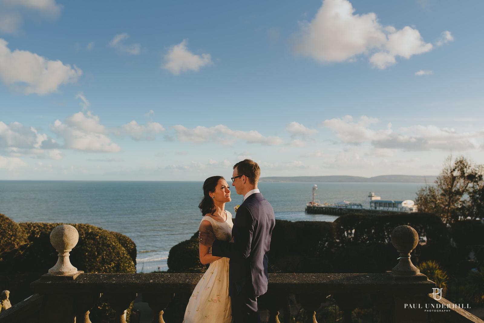 Creative wedding photography portrait