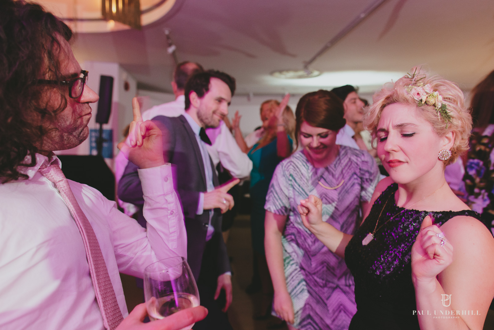 Guests dancing Bournemouth wedding Russell Cotes