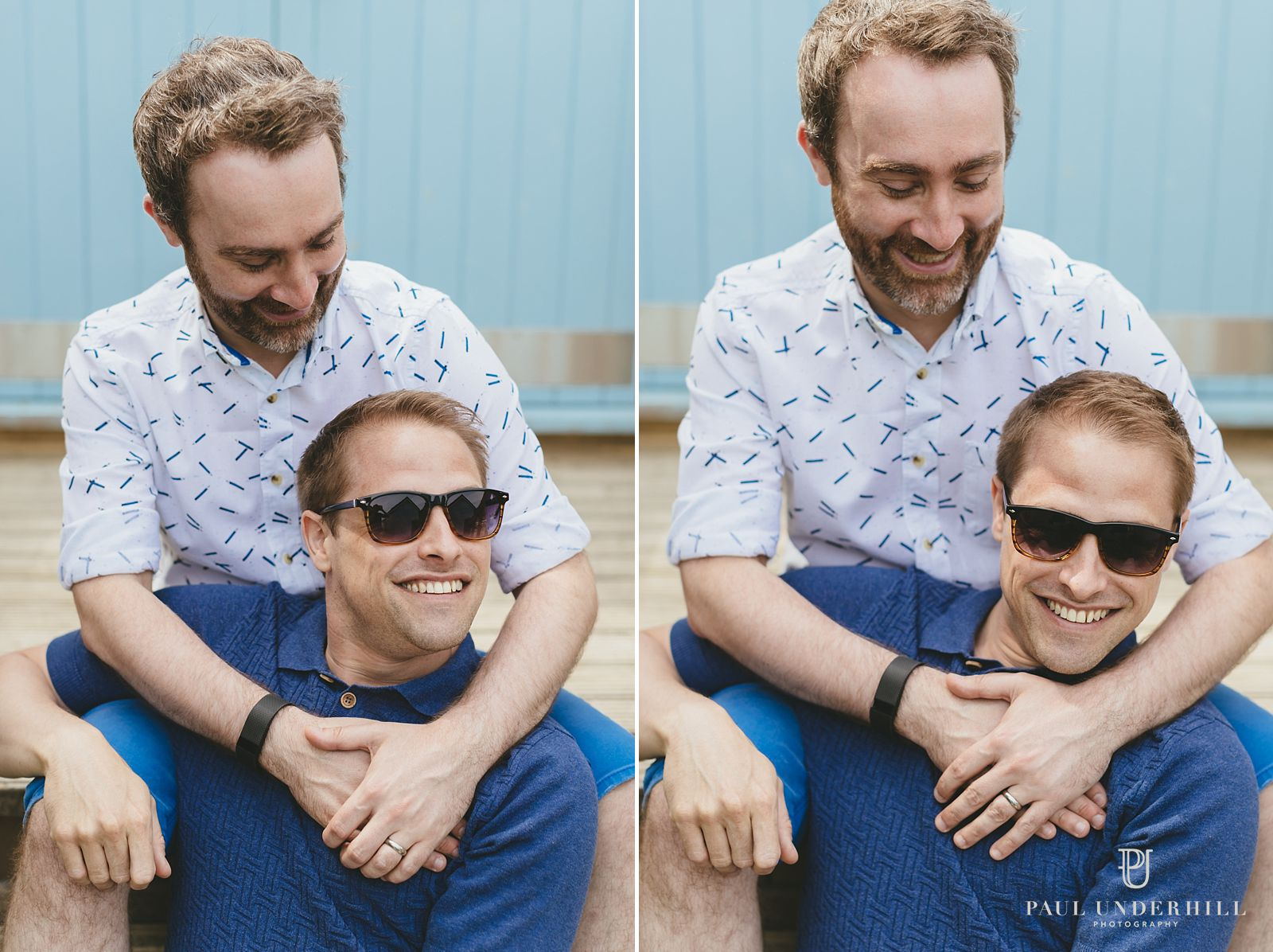 Relaxed portraits gay couple