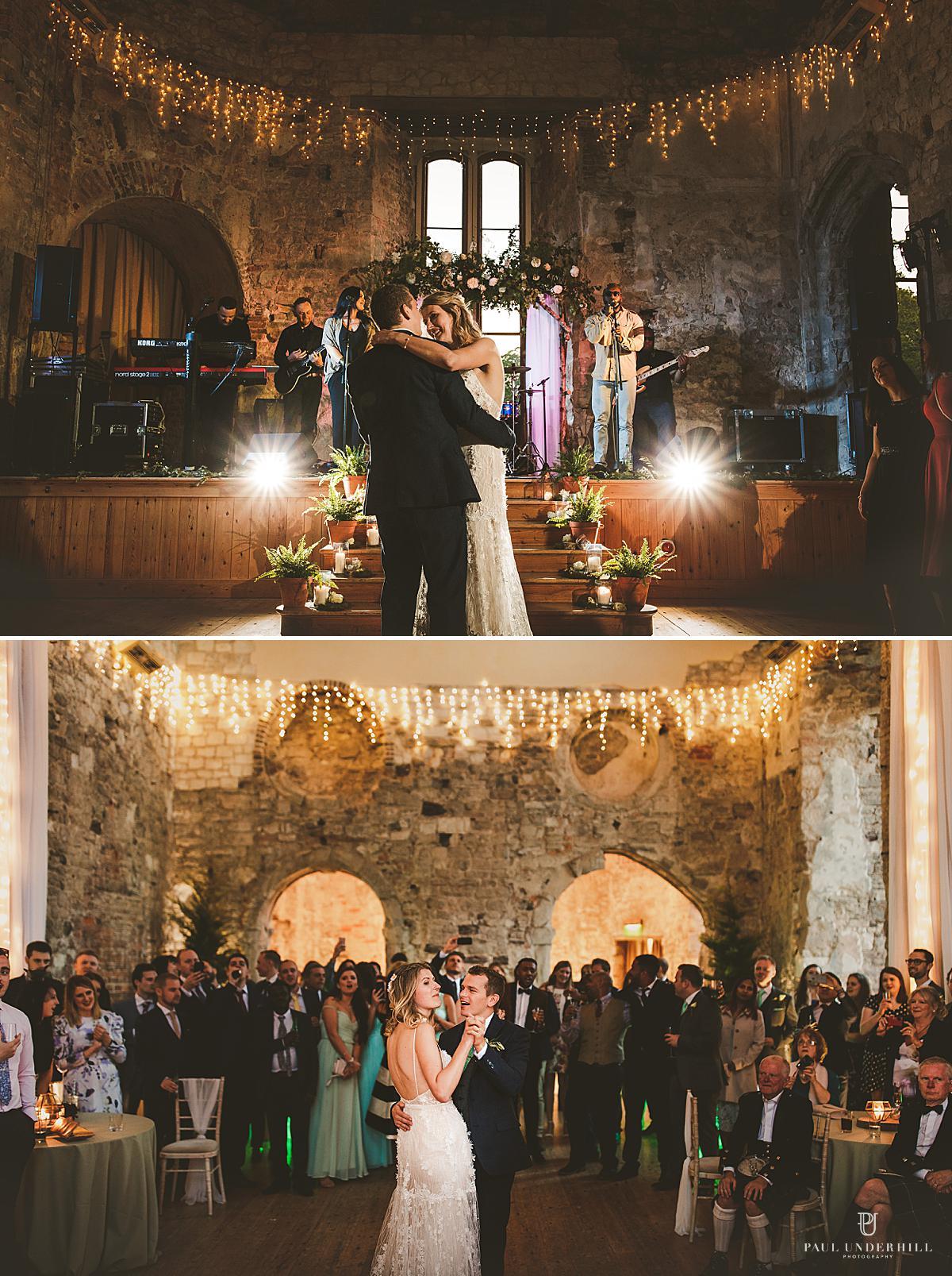 First dance Lulworth Castle wedding