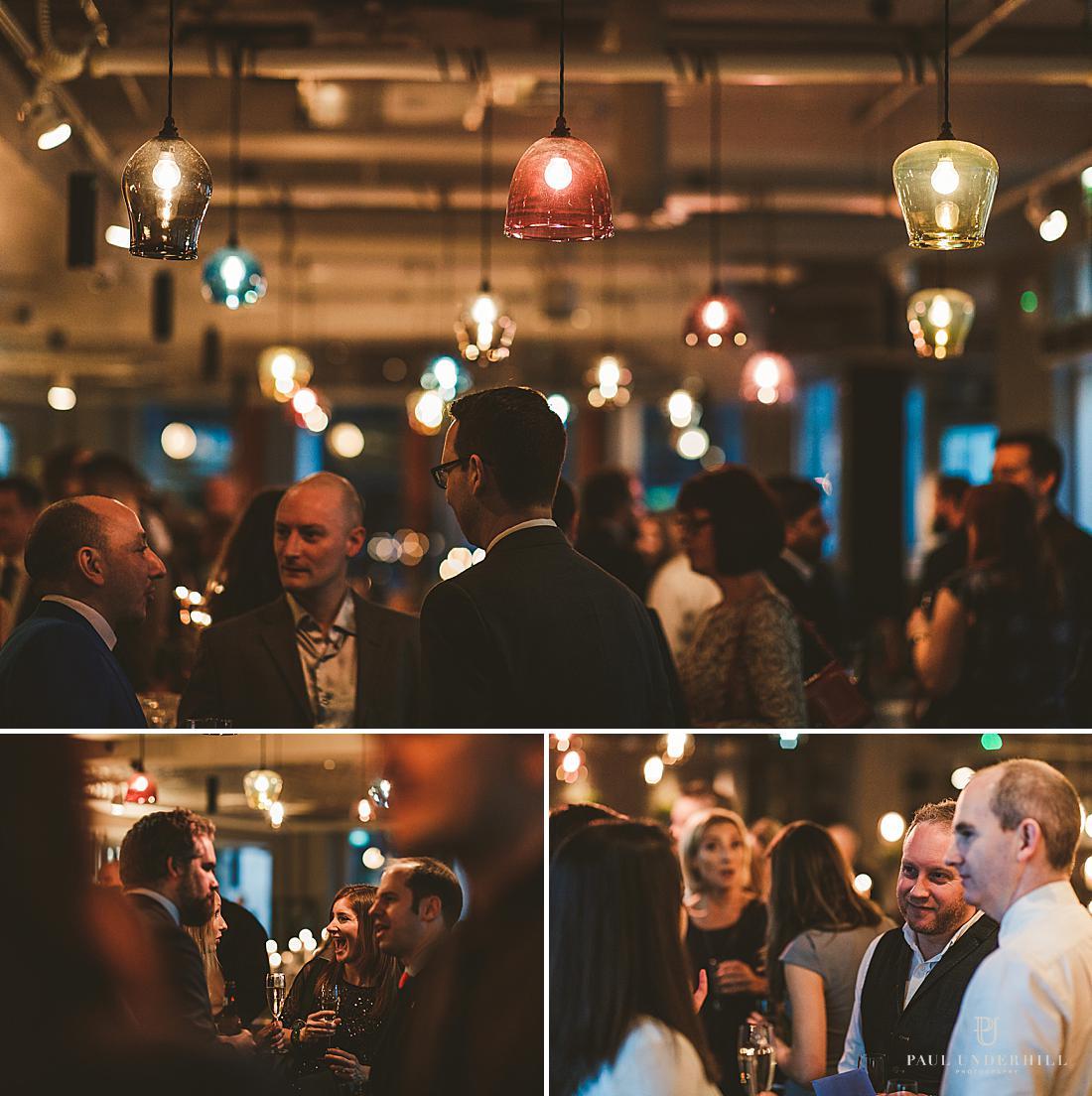 Wedding reception in city of London