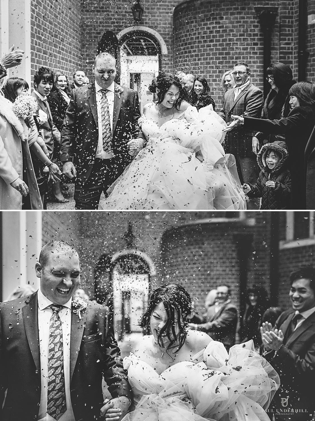 London wedding fun moments