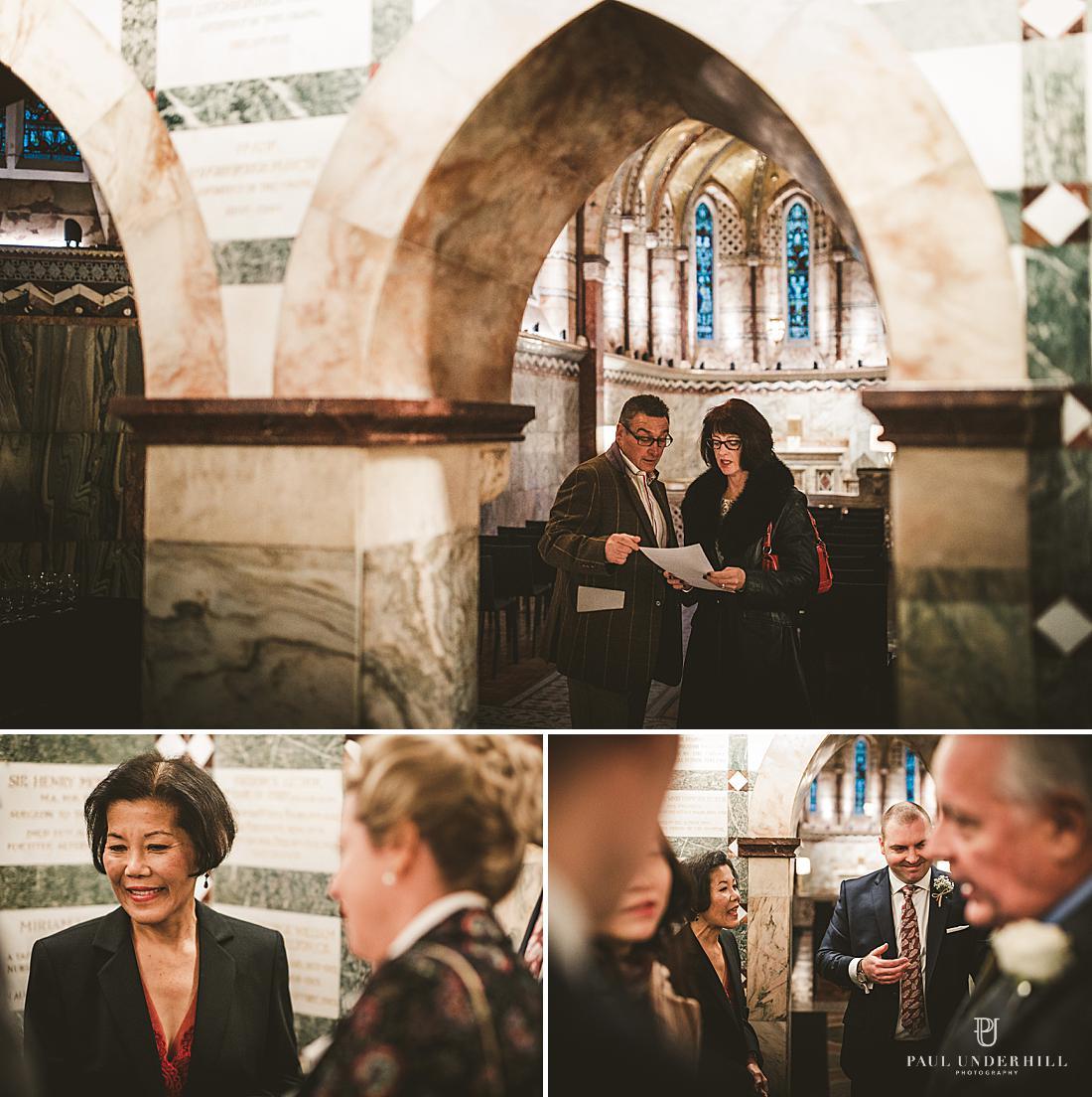 Fitzrovia chapel London wedding photography