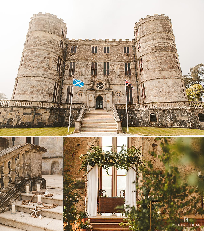 Lulworth Castle wedding decorations