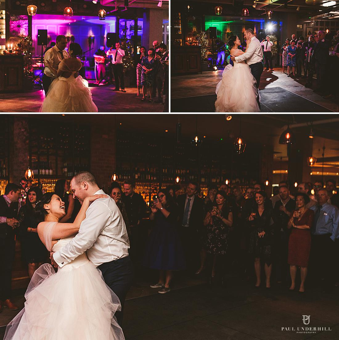Wedding photography in London first dance