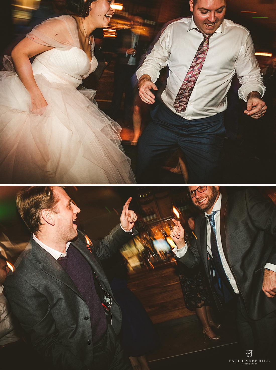 Wedding photography in London guests dancing