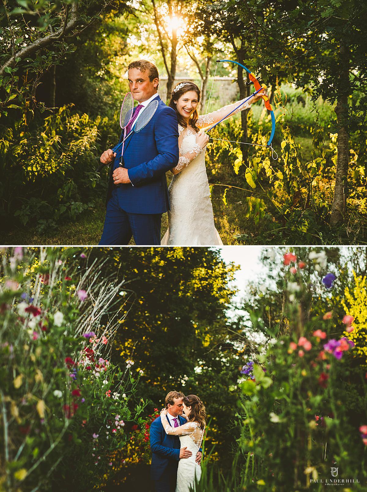 Creative bride groom-portraits Dorset photographer
