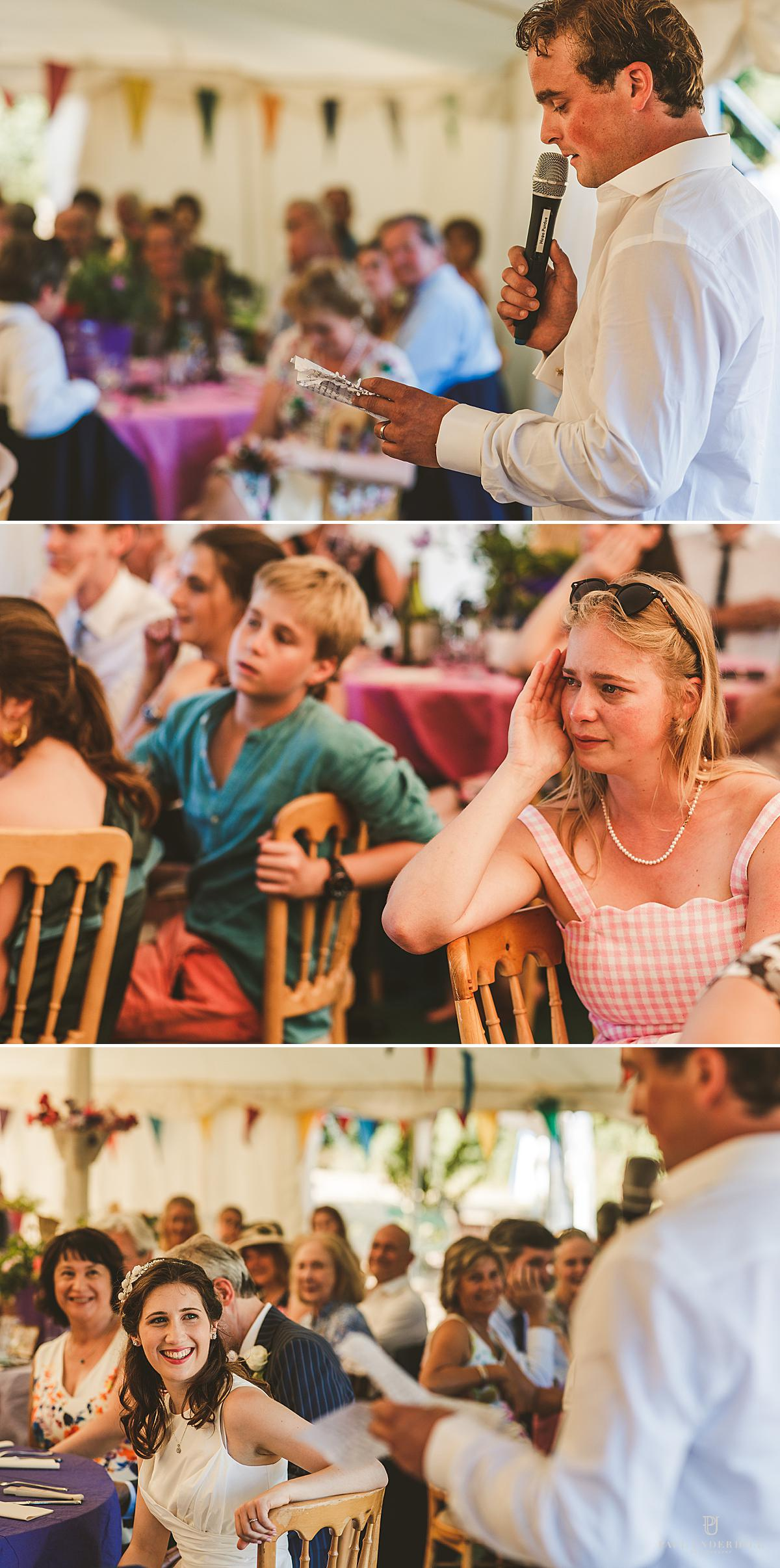 Dorset wedding photography speeches