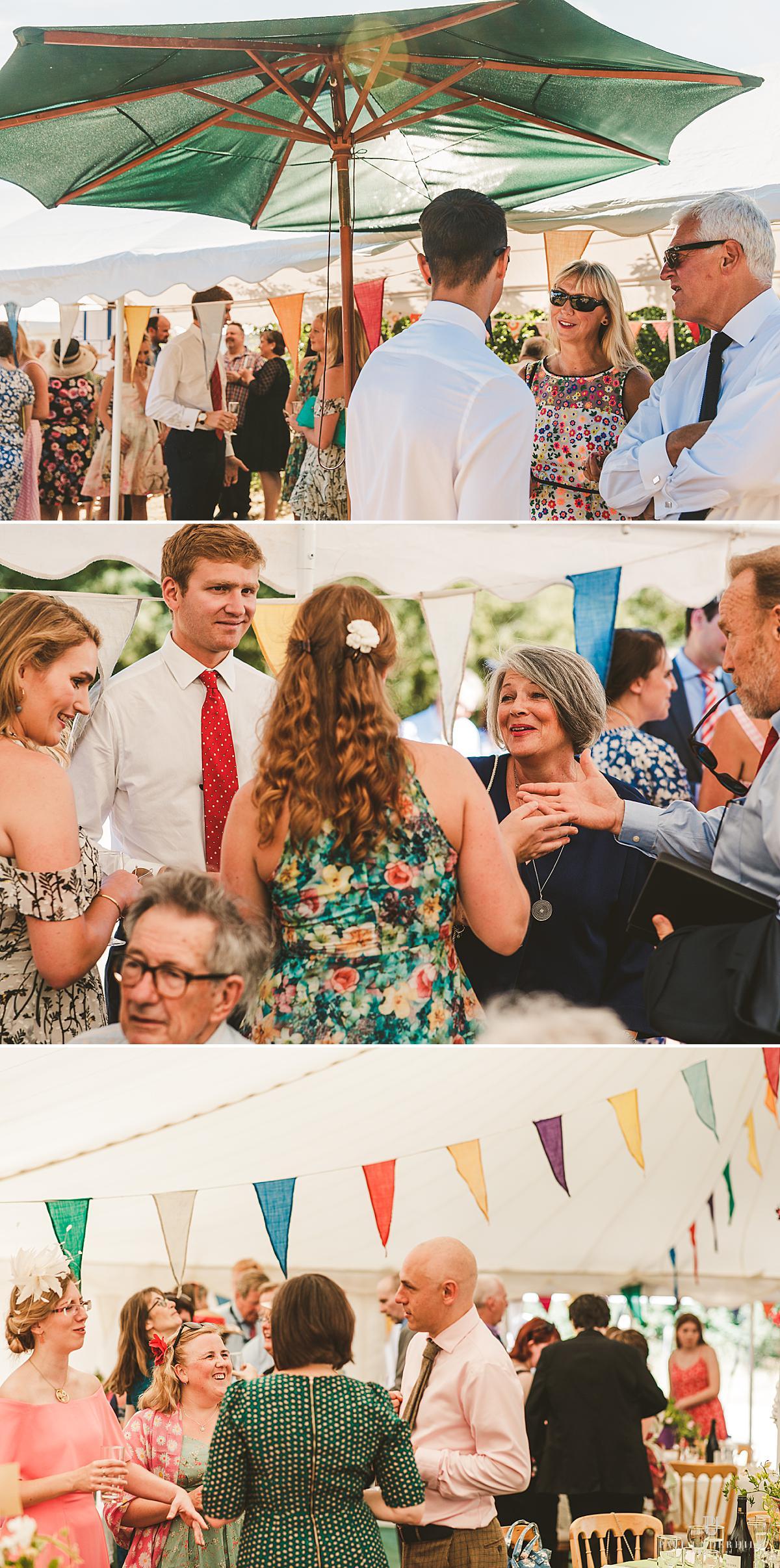 Home wedding reception Dorset