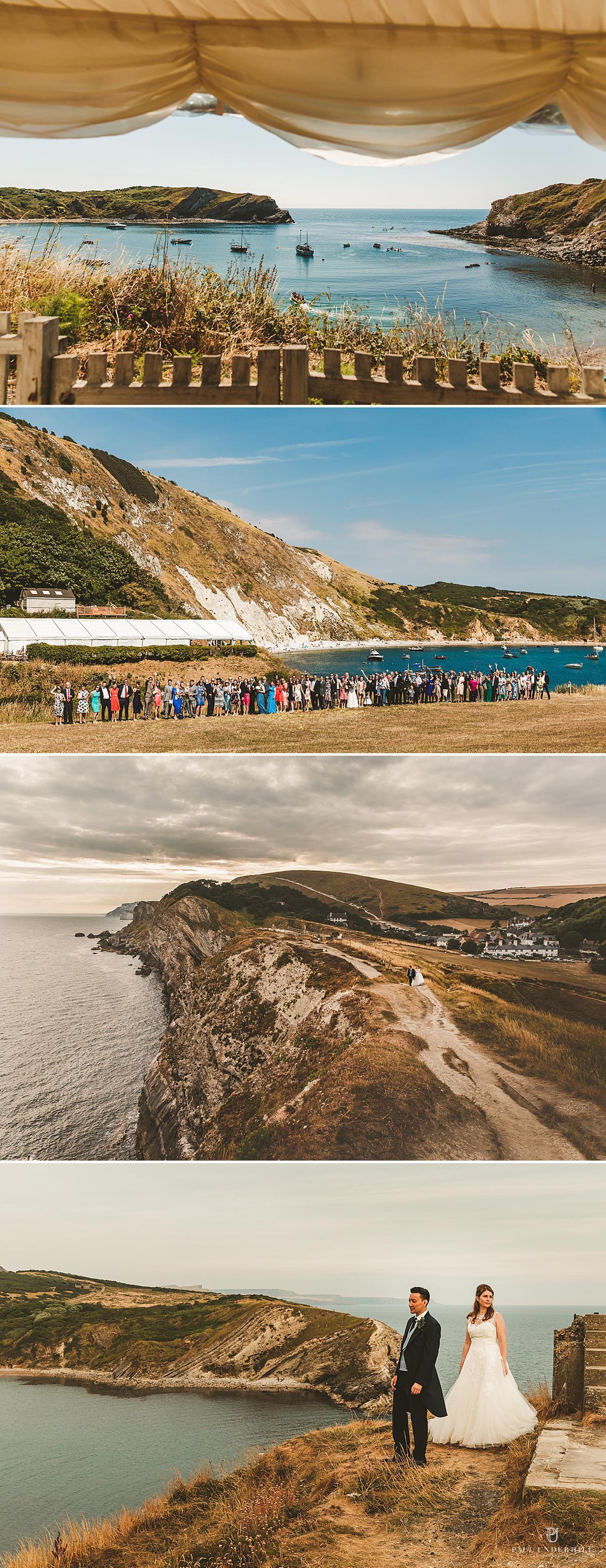 Lulworth Cove wedding photography