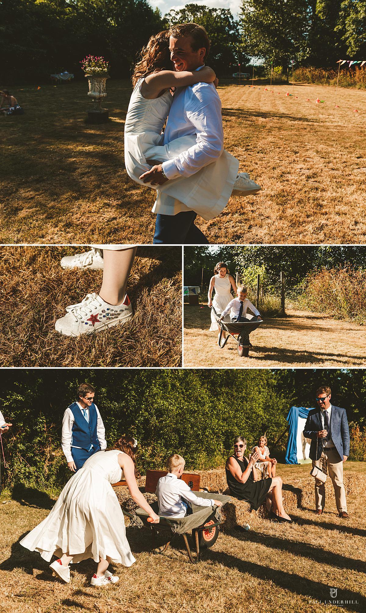 Outdoor summer Dorset wedding photography
