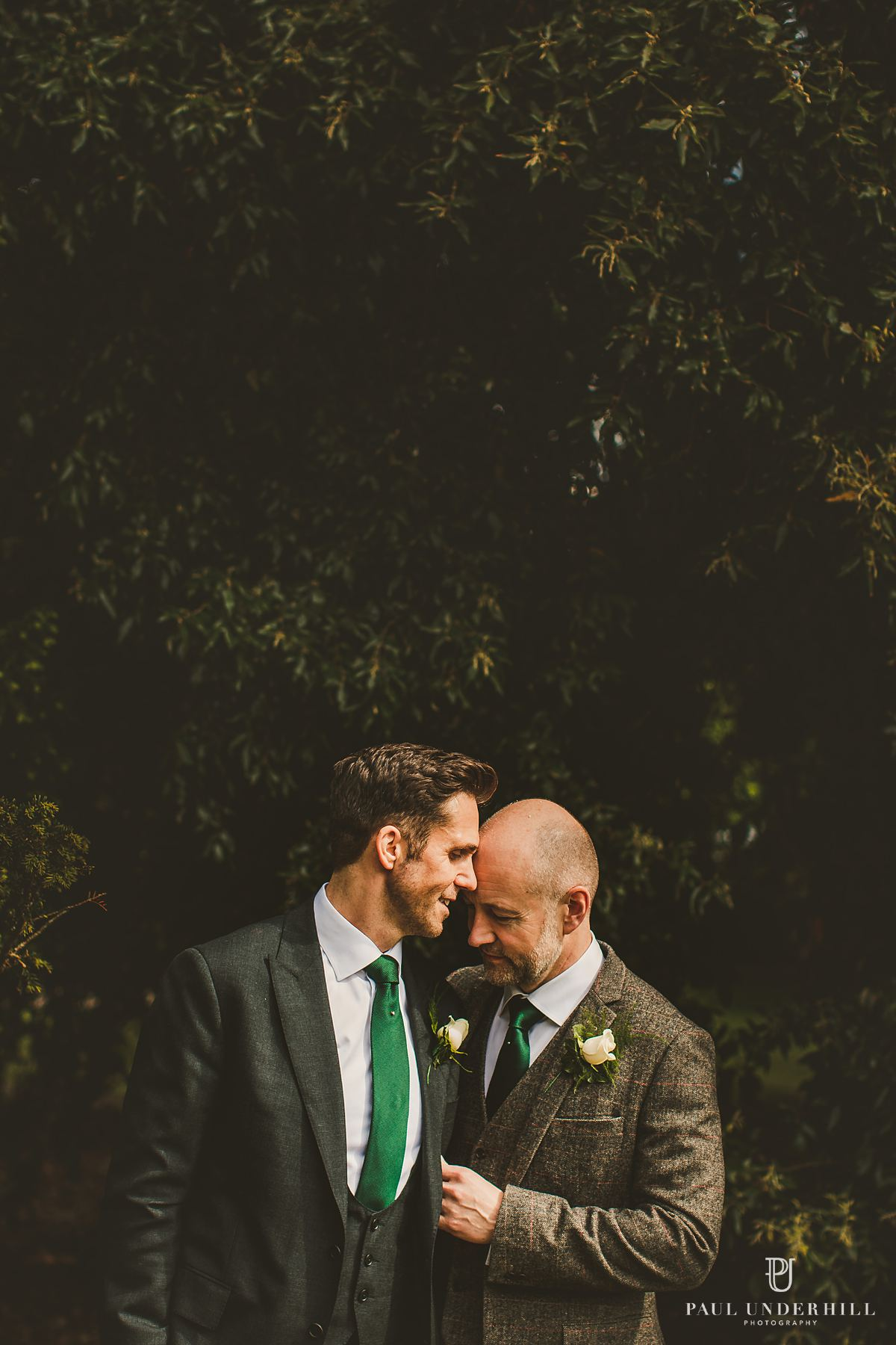 Portrait grooms gay wedding photography