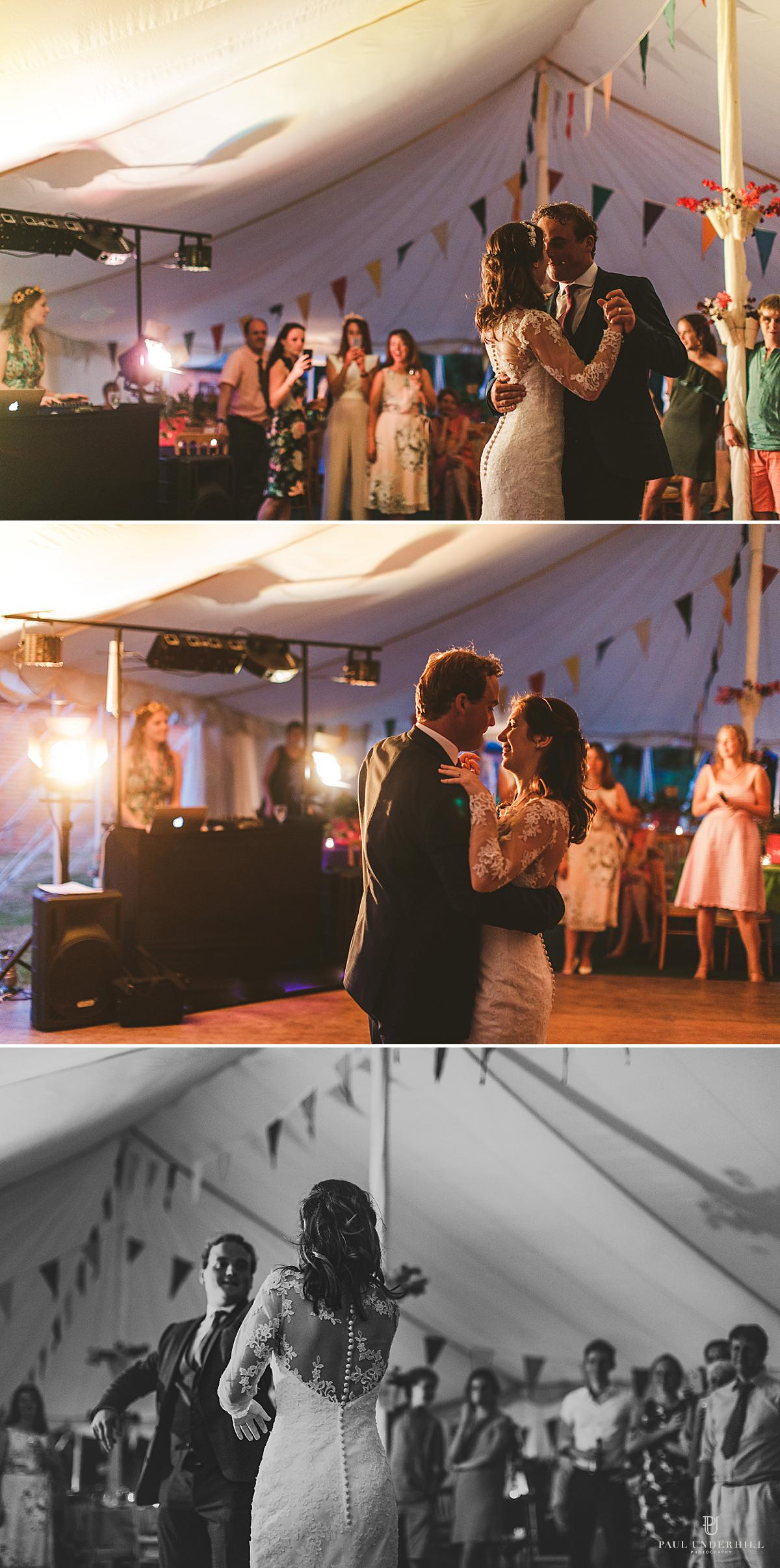 Wedding photography bride groom first dance