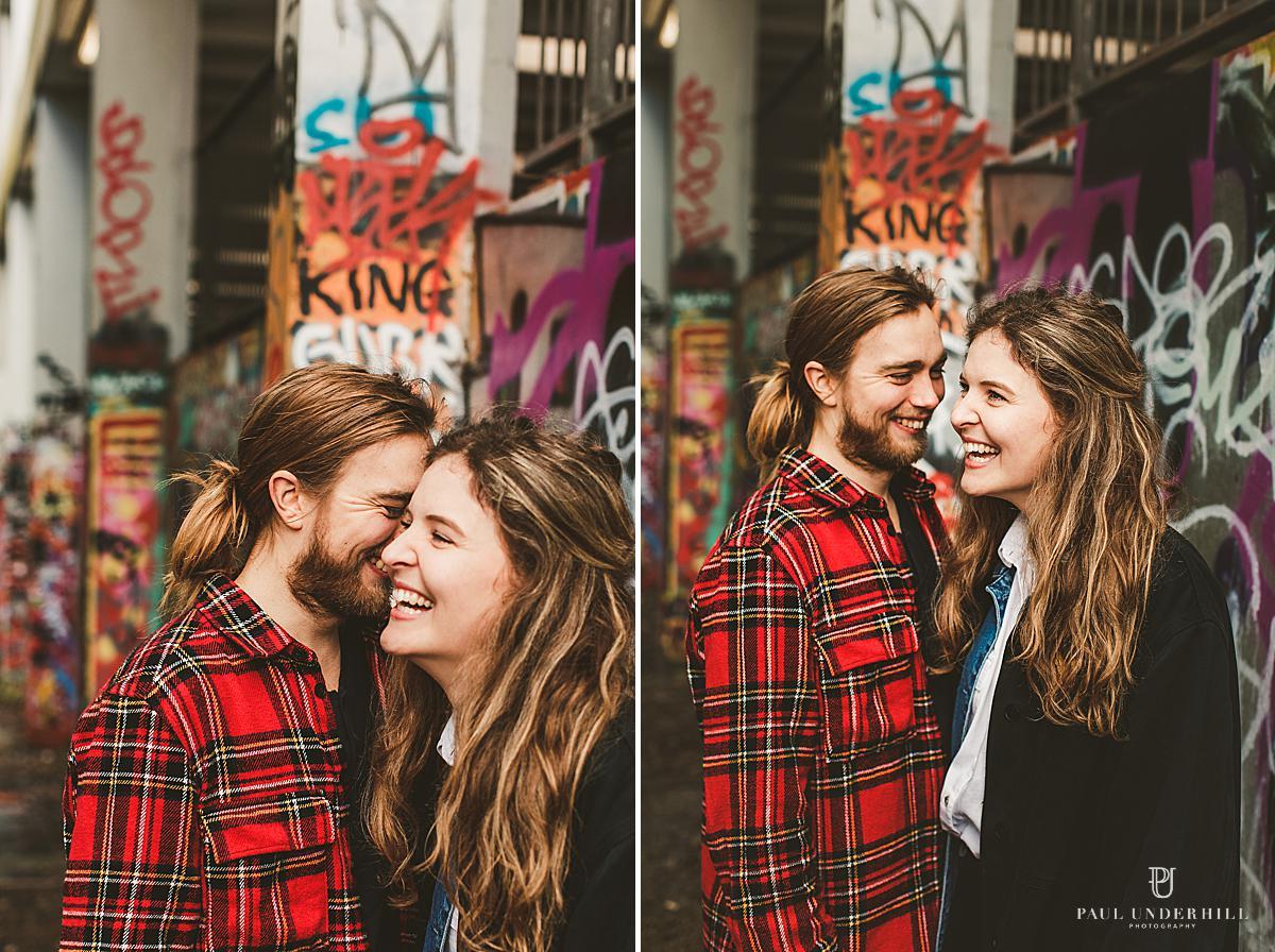 Alternative wedding couple photography