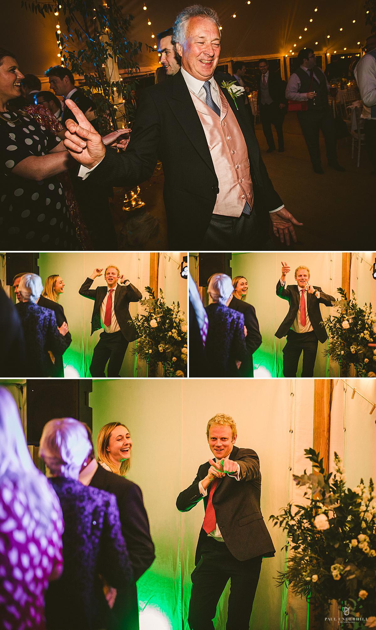 Wedding guests dancing Smedmore House