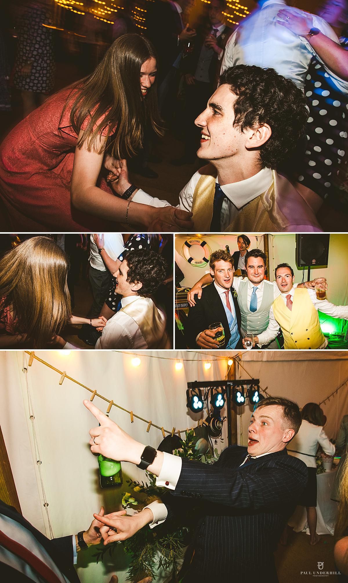 Wedding photography party antics