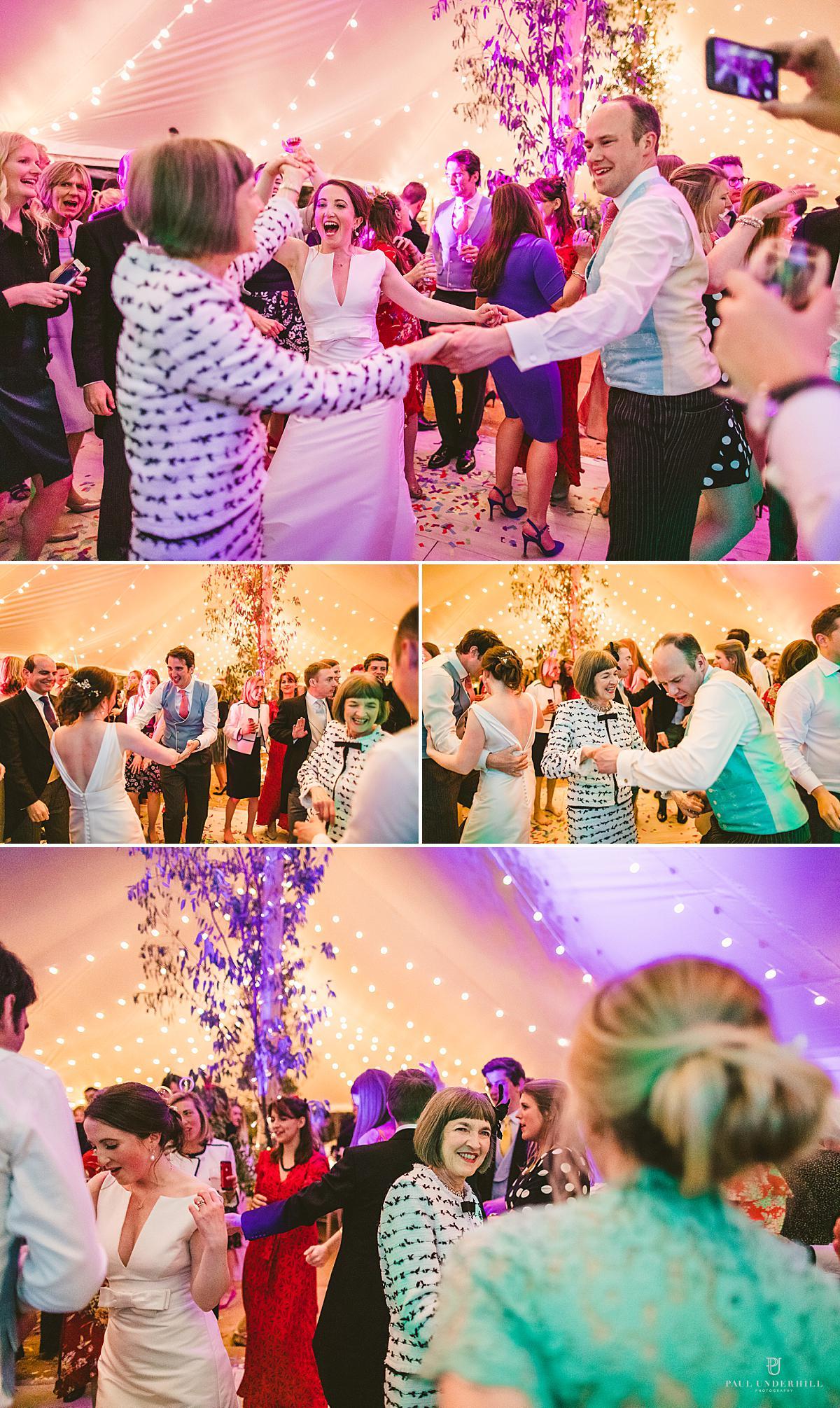 Documentary wedding photography party antics