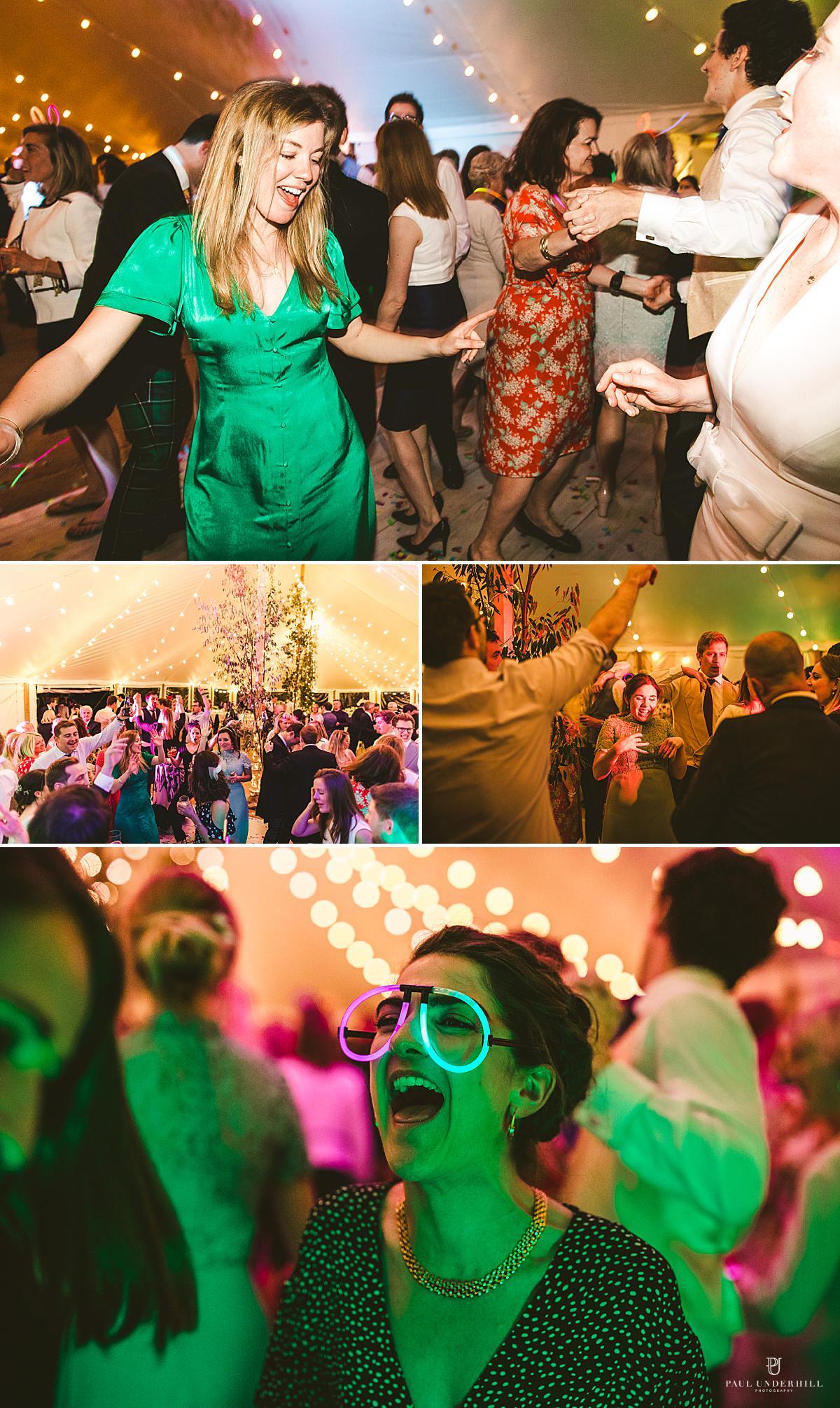 Reportage wedding photography party antics