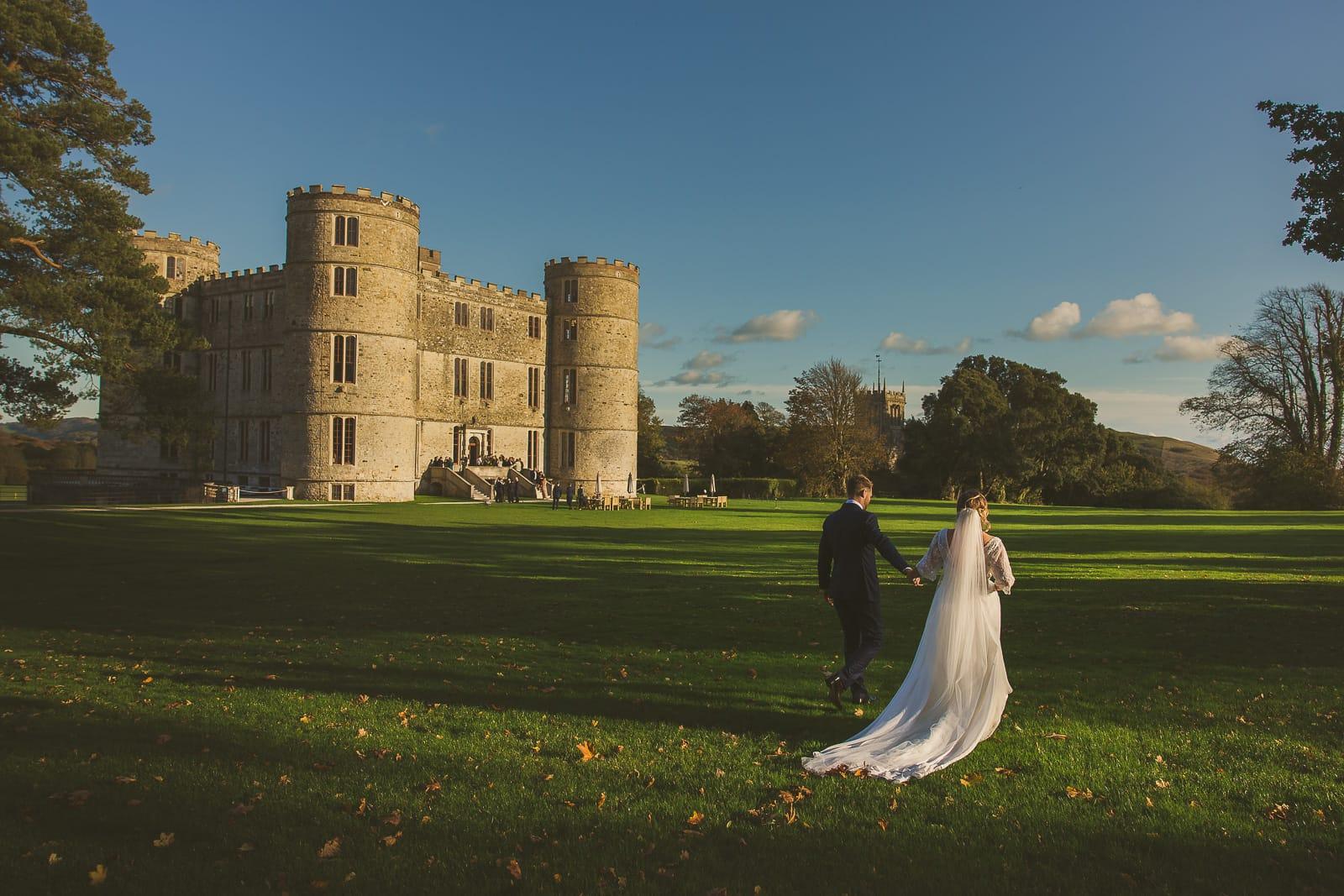 Lulworth Castle wedding photography Bride Groom portrait