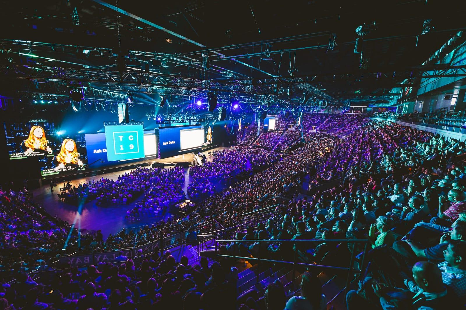 Tech conference keynote crowd Vegas USA